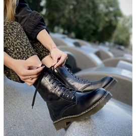 Marco Shoes High ankle boots, boots tied on a translucent sole black 7