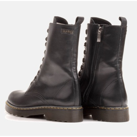 Marco Shoes High ankle boots, boots tied on a translucent sole black 6