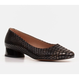Marco Shoes Snakeskin ballerinas with a round heel black 1