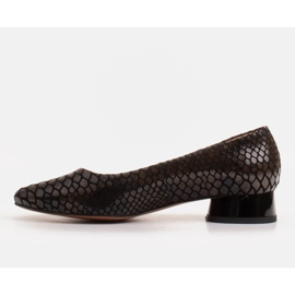 Marco Shoes Snakeskin ballerinas with a round heel black 2