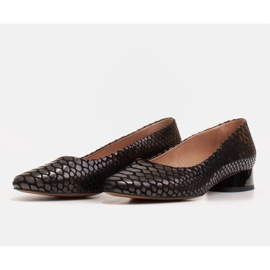 Marco Shoes Snakeskin ballerinas with a round heel black 3