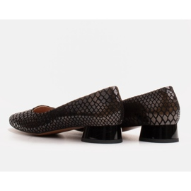 Marco Shoes Snakeskin ballerinas with a round heel black 4