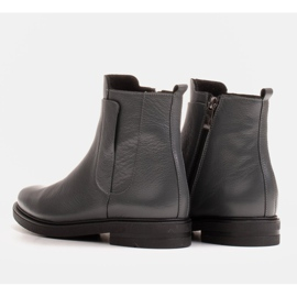 Marco Shoes Light boots insulated with a flat bottom made of natural leather grey 4