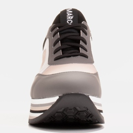 Marco Shoes Light sneakers on a thick sole made of natural leather grey 2