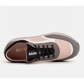 Marco Shoes Light sneakers on a thick sole made of natural leather grey 6