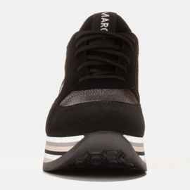 Marco Shoes Light sneakers on a thick sole made of natural leather black 2
