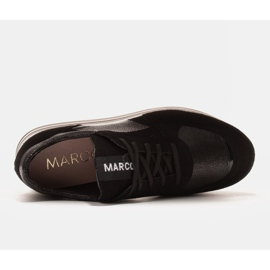 Marco Shoes Light sneakers on a thick sole made of natural leather black 5