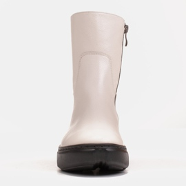 Marco Shoes Sporty white ankle boots made of soft natural leather 3