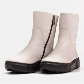Marco Shoes Sporty white ankle boots made of soft natural leather 6