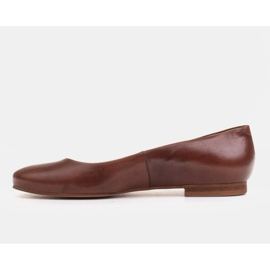 Marco Shoes Ballerinas made of brown grain leather, hand polished 2