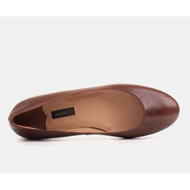 Marco Shoes Ballerinas made of brown grain leather, hand polished 4