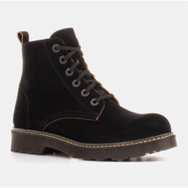 Marco Shoes High ankle boots, boots tied on a translucent sole black 1