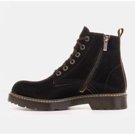 Marco Shoes High ankle boots, boots tied on a translucent sole black 2