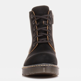 Marco Shoes High ankle boots, boots tied on a translucent sole black 3