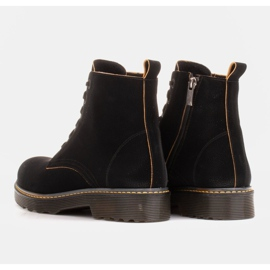 Marco Shoes High ankle boots, boots tied on a translucent sole black 5