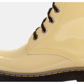 Marco Shoes High ankle boots, boots tied on a translucent sole yellow 6