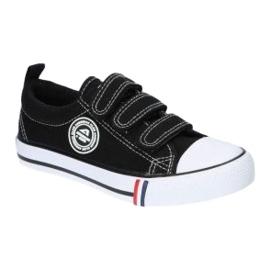 American Club Black American LH33 / 21 Velcro sneakers 4