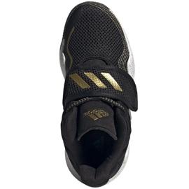 Shoes adidas Deep Threat Primeblue C Jr GZ0111 white black 2