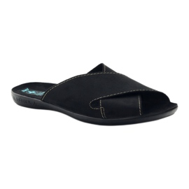 Men's slippers Adanex 20310 black 1