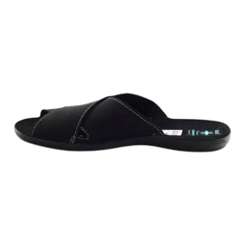 Men's slippers Adanex 20310 black 2