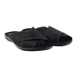 Men's slippers Adanex 20310 black 4