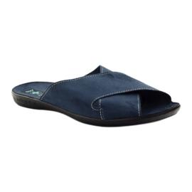 Men's slippers Adanex 20308 navy blue 1