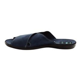 Men's slippers Adanex 20308 navy blue 2