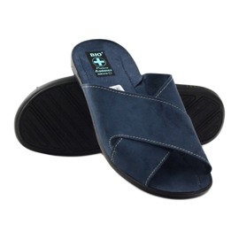 Men's slippers Adanex 20308 navy blue 3