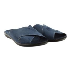 Men's slippers Adanex 20308 navy blue 4