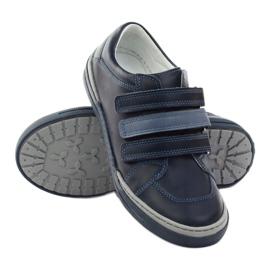 Boys' shoes, velcro Bartuś, navy blue multicolored 3