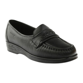 Loafers' heels for sensitive feet black Solo 015 1