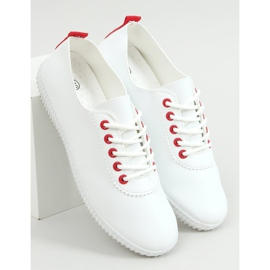 Women's sneakers white and red JF-873 Red 1
