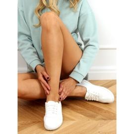 White women's sneakers JF-873 White 2