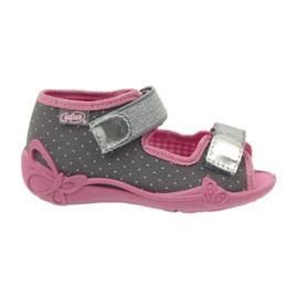 Befado children's shoes 242P082 grey pink 1