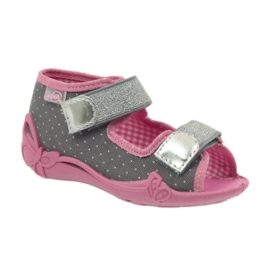 Befado children's shoes 242P082 grey pink 2