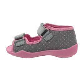 Befado children's shoes 242P082 grey pink 3