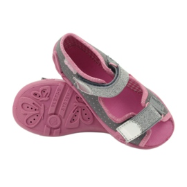 Befado children's shoes 242P082 grey pink 4
