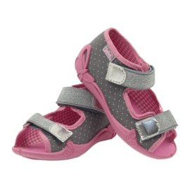Befado children's shoes 242P082 grey pink 5