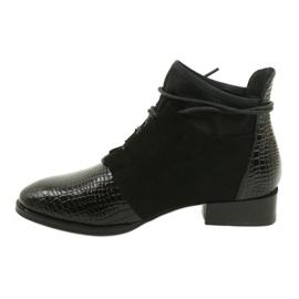 Women's Boots Leather Filippo Black DBT3034 / 21 BK 1
