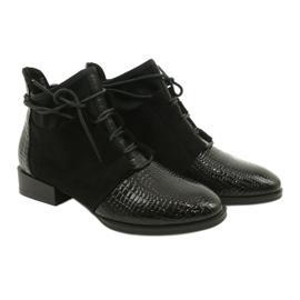 Women's Boots Leather Filippo Black DBT3034 / 21 BK 3