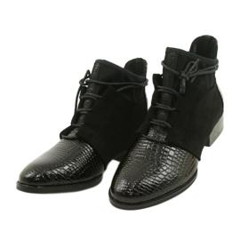 Women's Boots Leather Filippo Black DBT3034 / 21 BK 2
