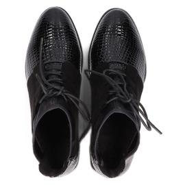 Women's Boots Leather Filippo Black DBT3034 / 21 BK 4