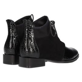 Women's Boots Leather Filippo Black DBT3034 / 21 BK 5