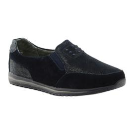 Women's sports slip-in DK leather navy blue 1