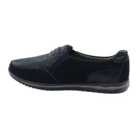 Women's sports slip-in DK leather navy blue 2
