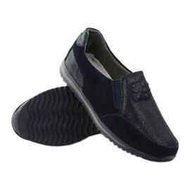 Women's sports slip-in DK leather navy blue 3