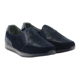 Women's sports slip-in DK leather navy blue 4