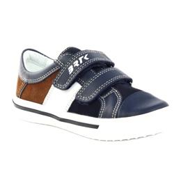 Boys' shoes Bartek 15607 navy blue multicolored brown white 1