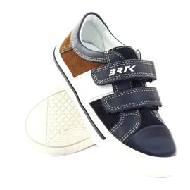 Boys' shoes Bartek 15607 navy blue multicolored brown white 3