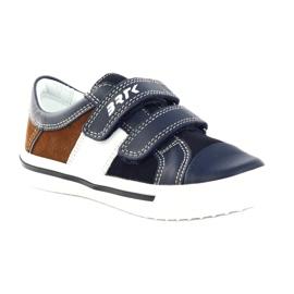 Boys' shoes Bartek 18607 navy blue multicolored brown white 1